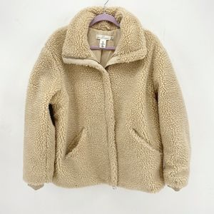 H&M Faux Shearling Teddy Zip Up Jacket